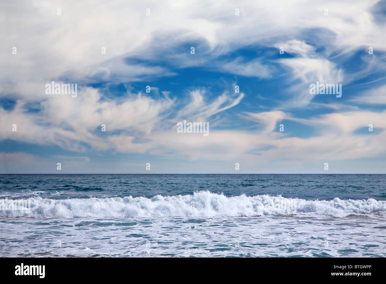 seascape in Vina del Mar, Chile - Stock Image