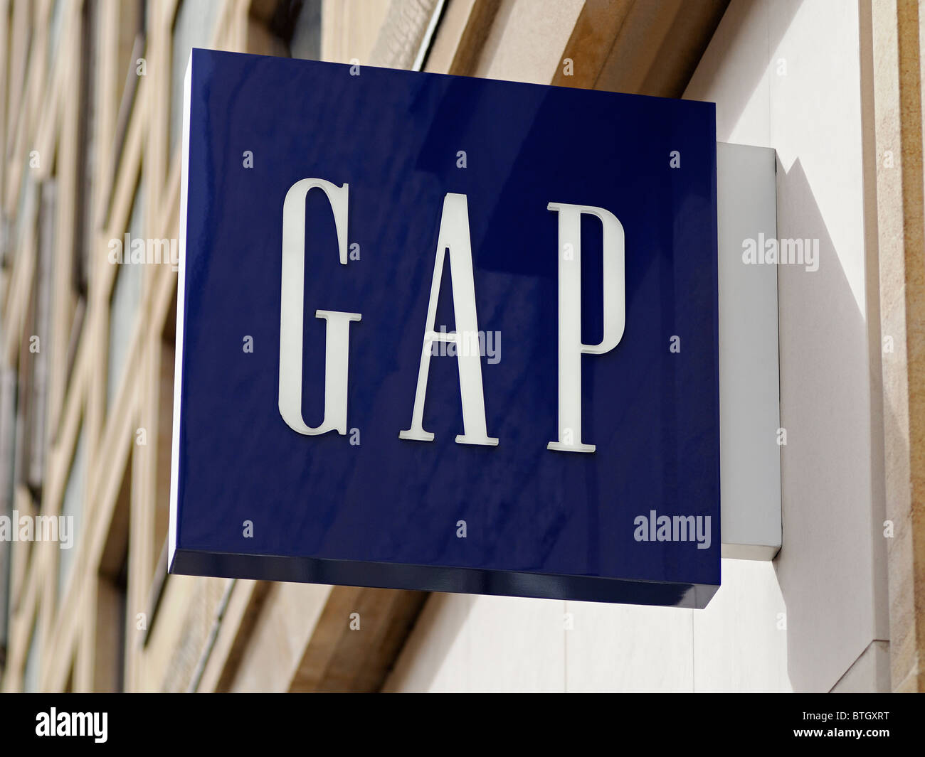 GAP Sign, Oxford, UK. - Stock Image