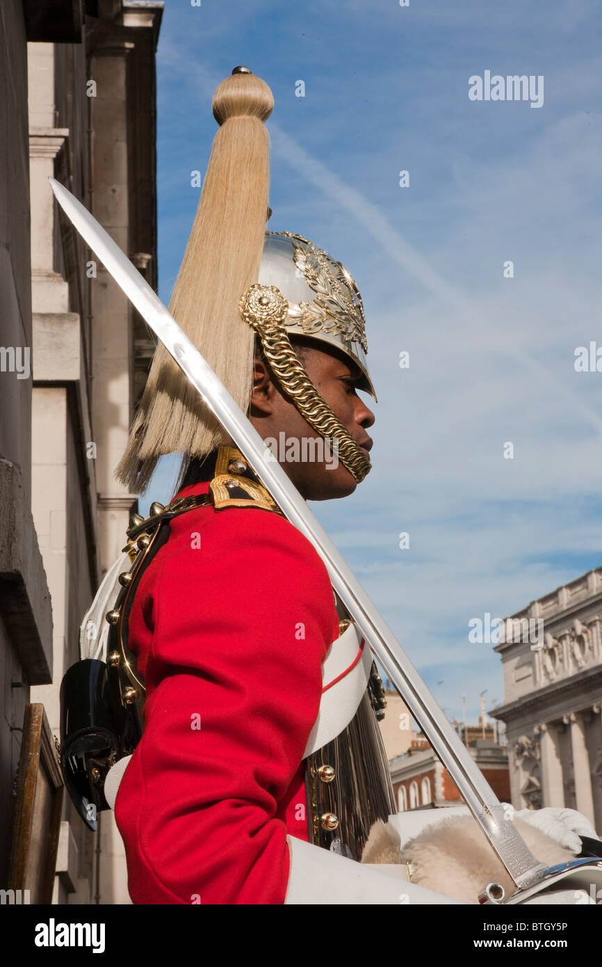 Horse Guards on Duty - Stock Image