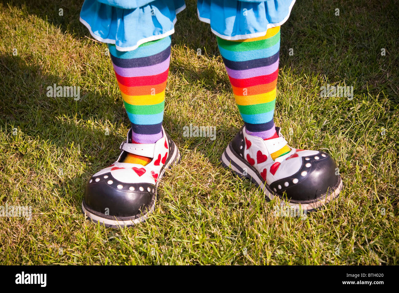 Clown shoes - Stock Image