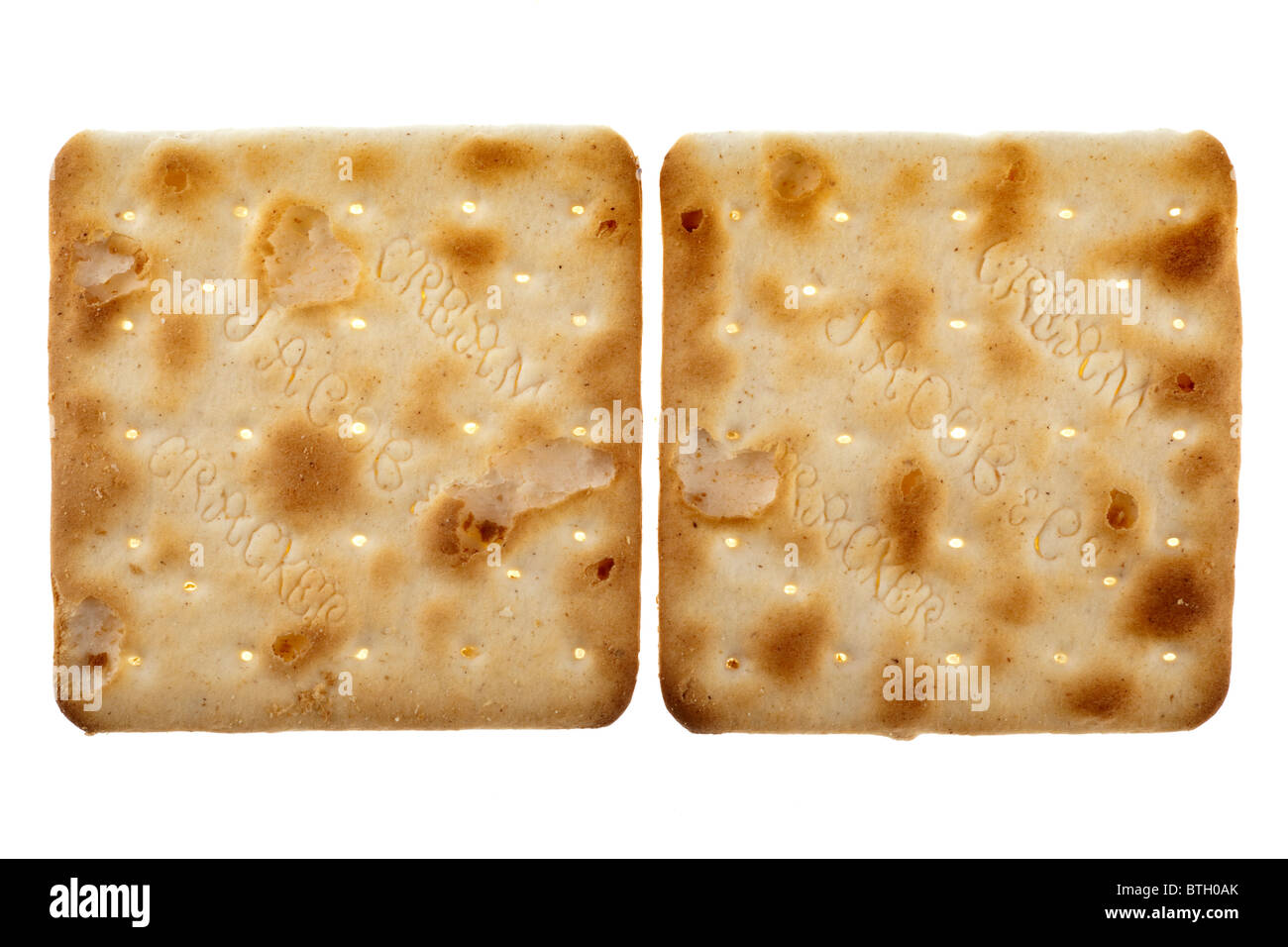 Two Jacobs cream cracker biscuits Stock Photo: 32335595 ...