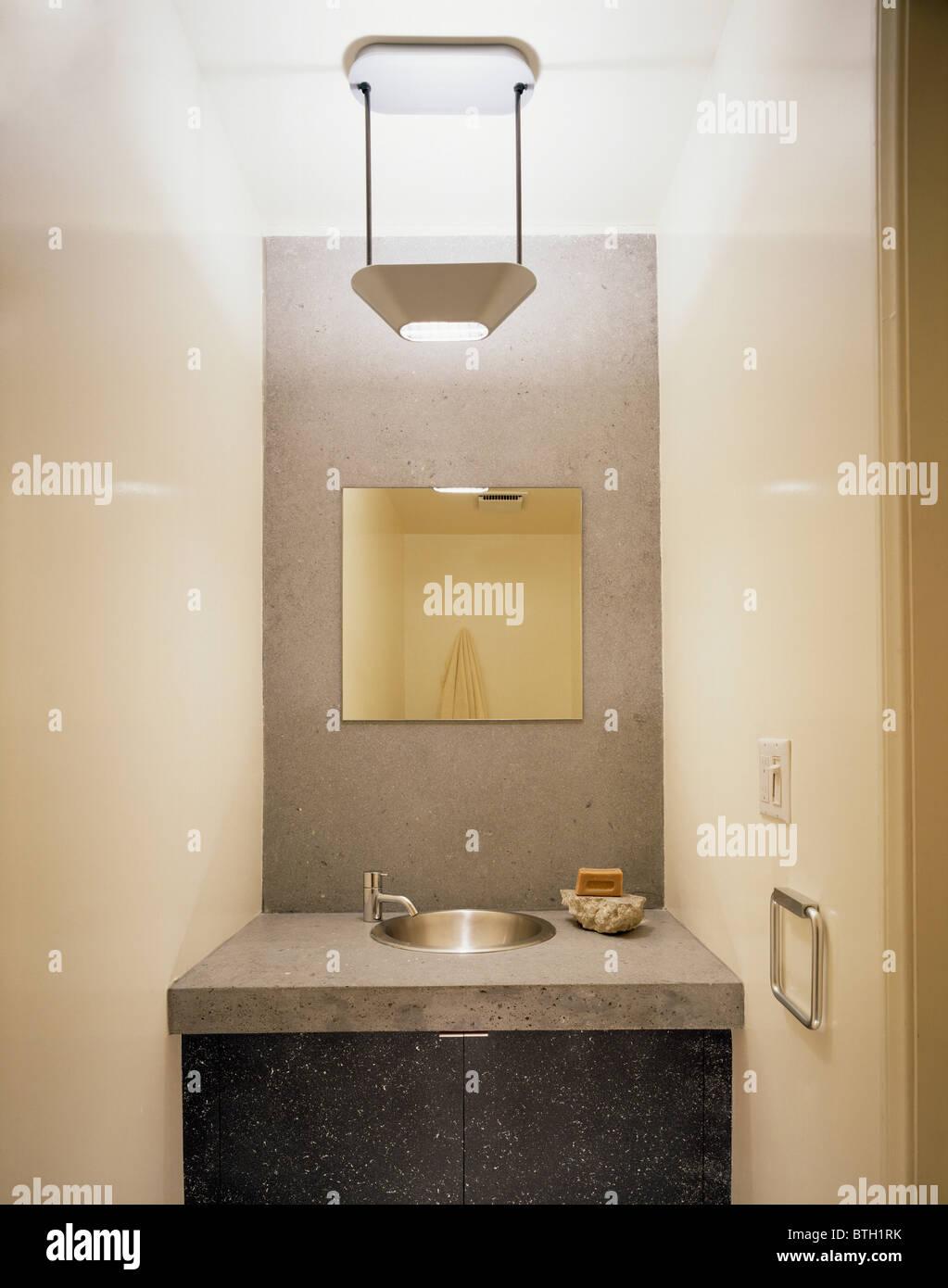 Bathroom Details Basin Mirror Lighting Fixed Gray Grey ...