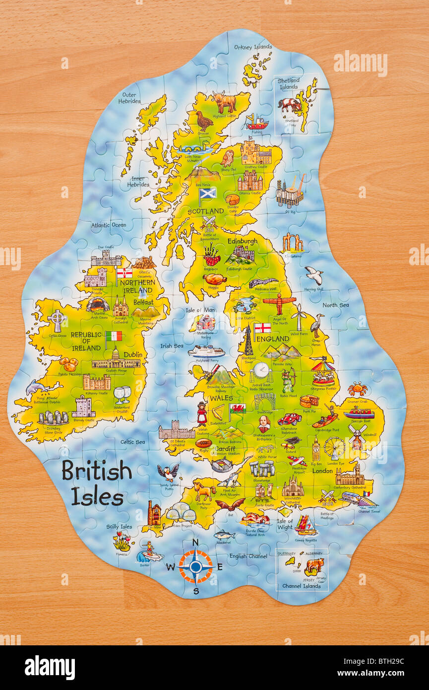 A jigsaw of the British Isles - Stock Image