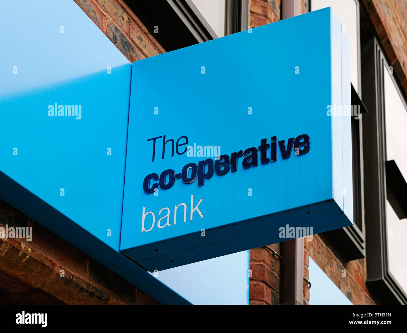 The Co-Operative Bank Sign, Oxford, UK. - Stock Image