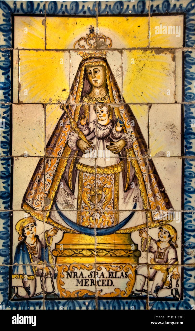 Seville Spain Andalusia Mosaico nuestra Senora de la merced Stock Photo