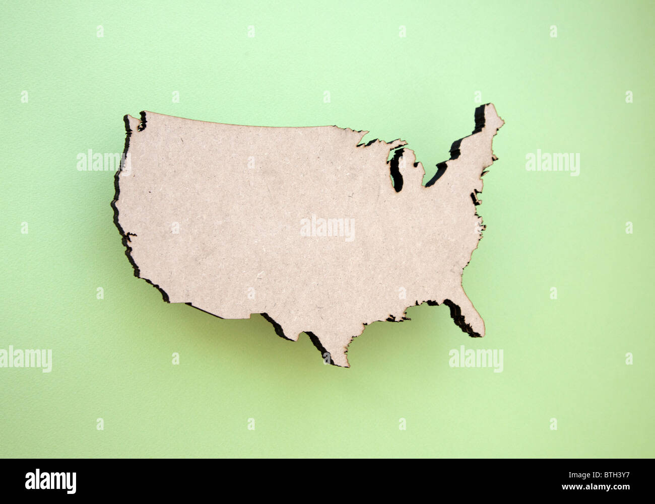 continental US shape - Stock Image