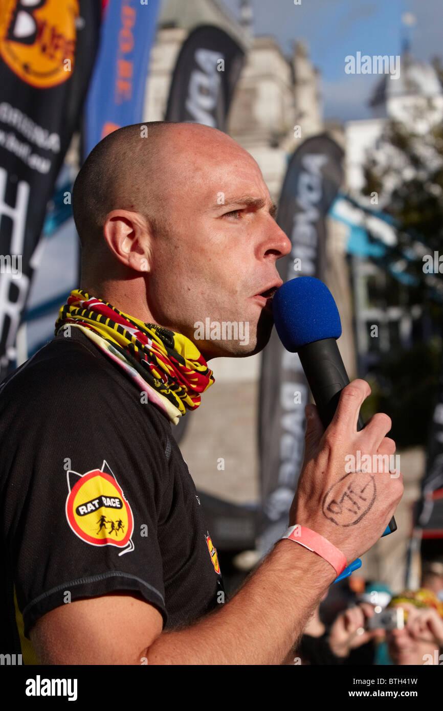 Dean Macey at the London Rat Race Urban Adventure - Stock Image