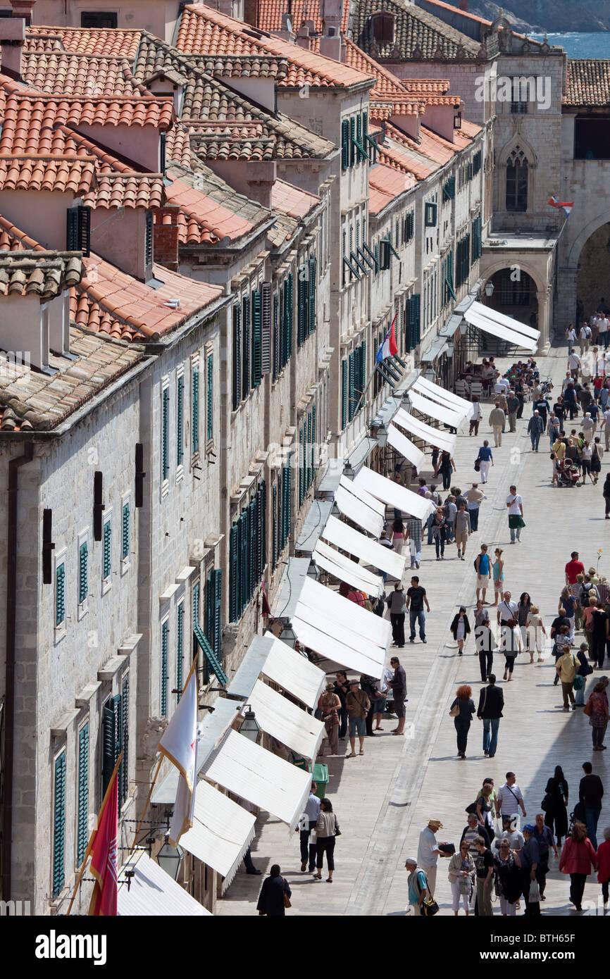 The main street of Dubrovnik - Stock Image