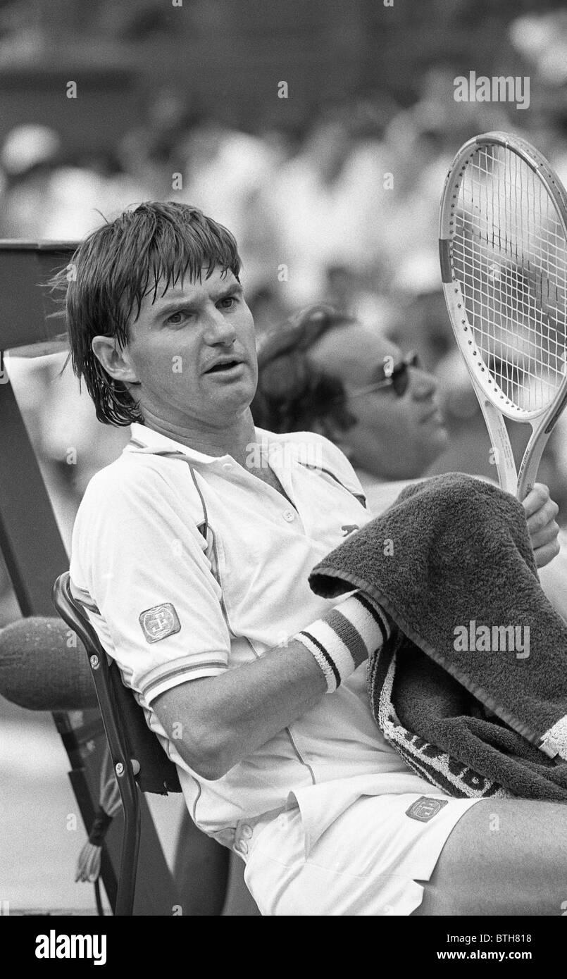 Jimmy Connors at Wimbledon Tennis Tournament 1987 - Stock Image