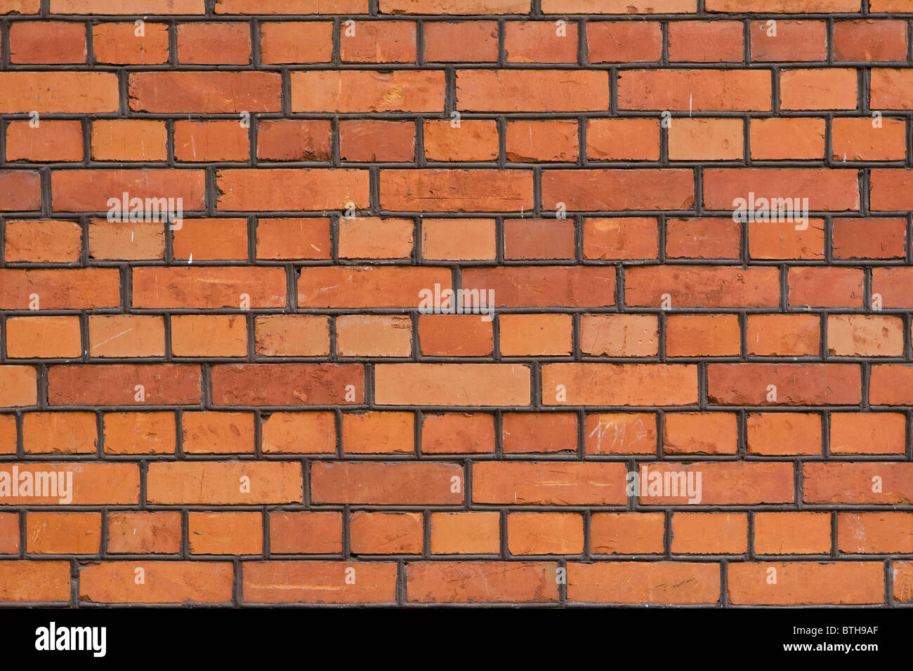 The facade view of the old brick wall for design background. - Stock Image