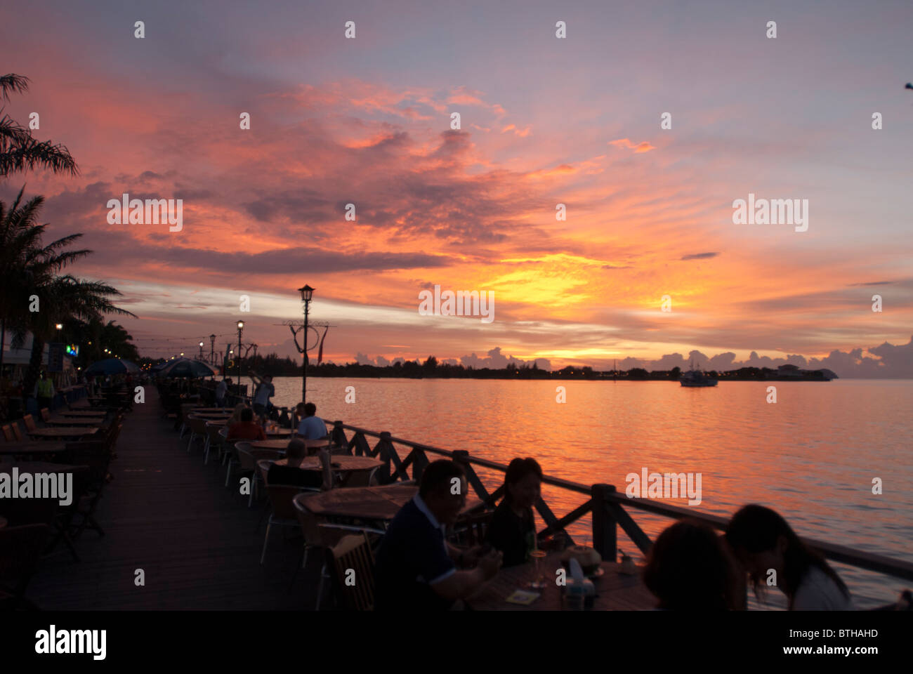 Sunset in Kota Kinabalu Borneo Malaysia - Stock Image
