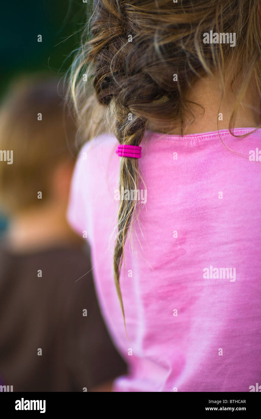 Pony Tail on Girl Model Release - Stock Image