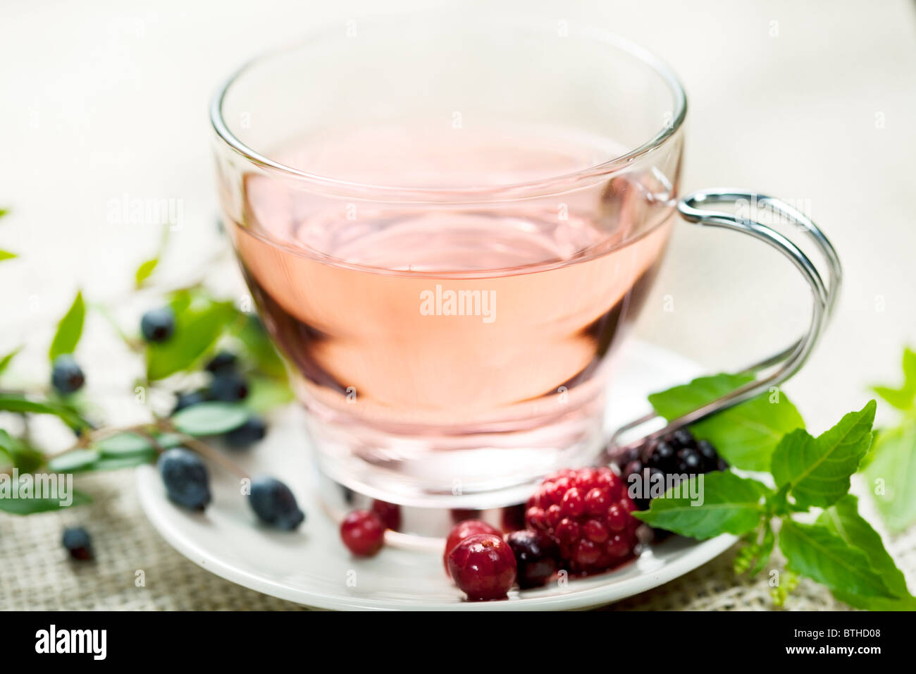 forest berry tea - Stock Image