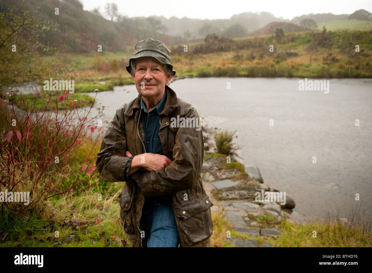 Charles Owen George. H2Hydro water powered hydro-electic schemes entrepreneur, Wales UK - Stock Image