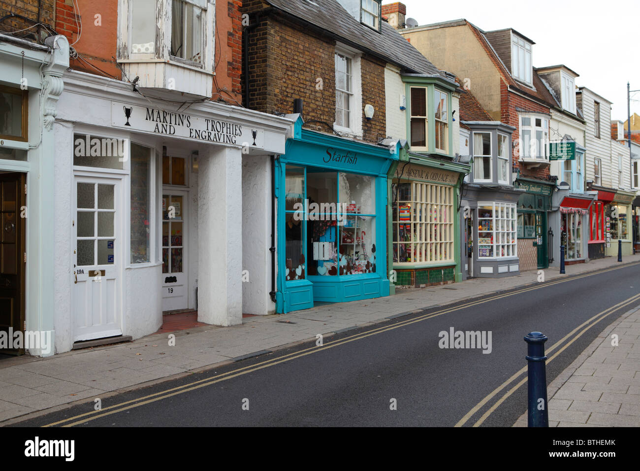 A row of shops in Harbour street - Stock Image