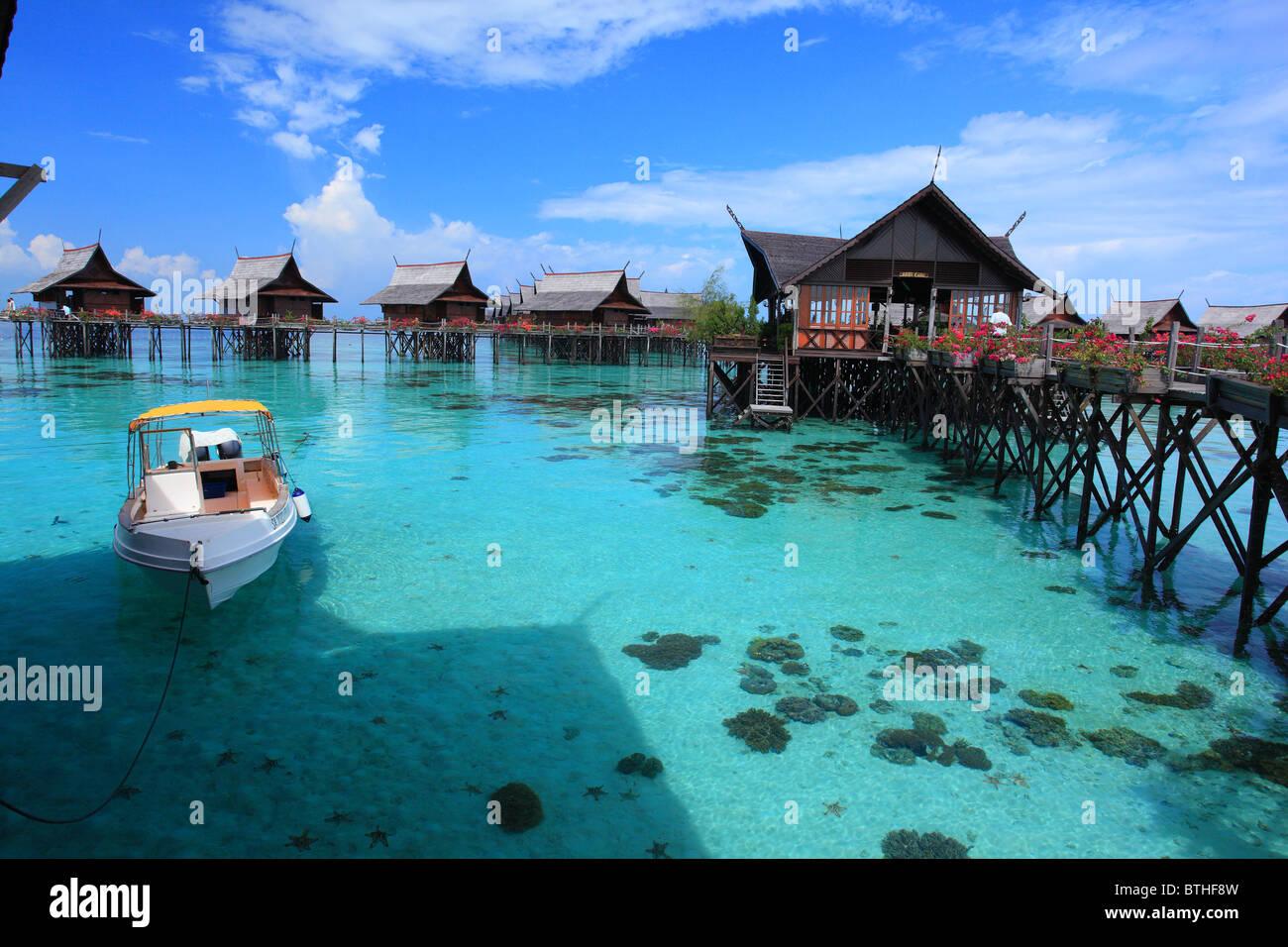 A view from the Kapalai Resort of Semporna Sabah, Malaysia ...