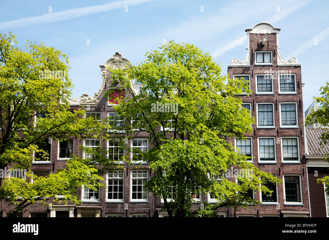 Homes along Prinsengracht Amsterdam - Stock Image