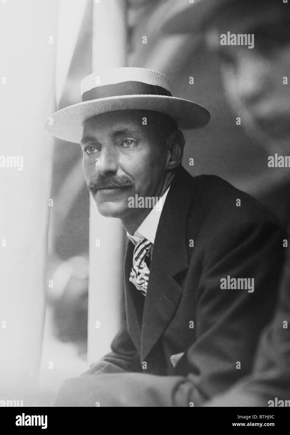 Vintage photo c1909 of millionaire American businessman + Titanic victim John Jacob Astor IV (1864 - 1912). - Stock Image