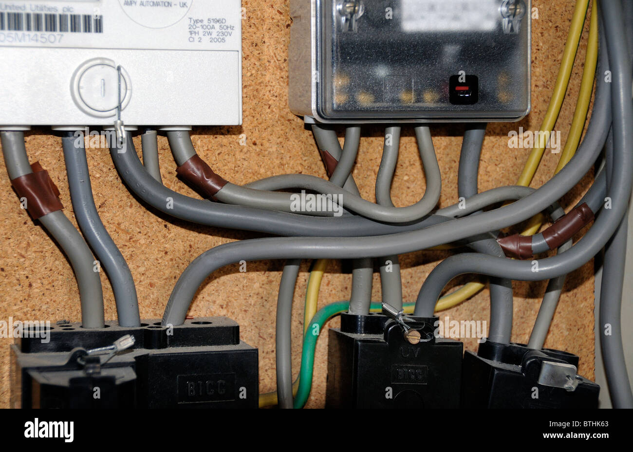 Wiring Electric Meter Diagram Detailed Electrical Panel Detail Of In Domestic Box Stock Photo Residential