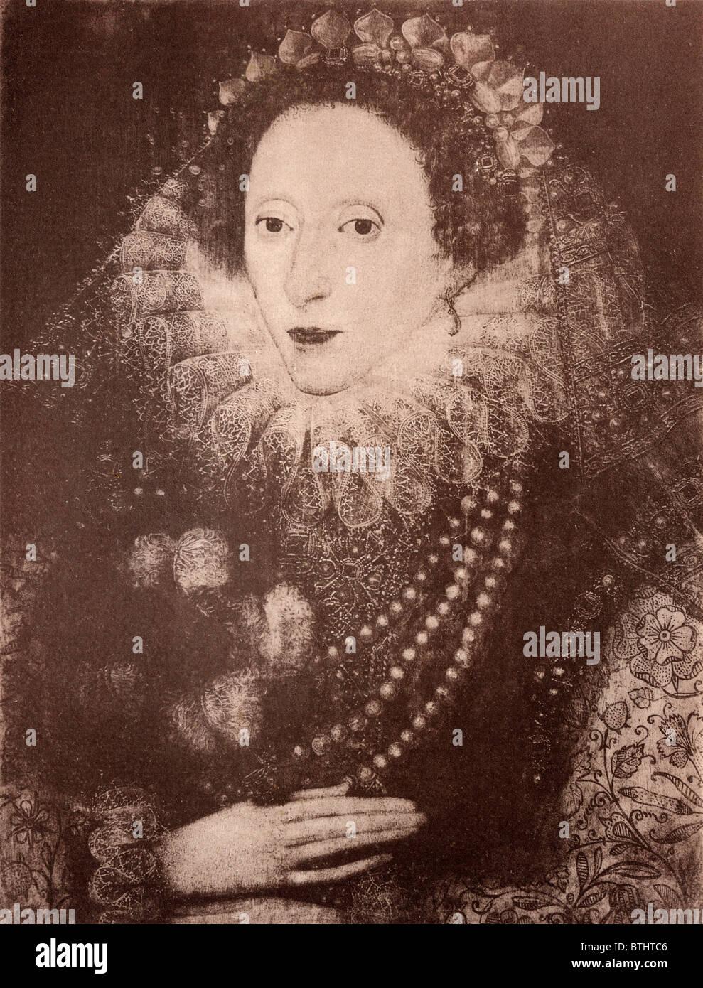 Queen Elizabeth I of England, 1533-1603. - Stock Image