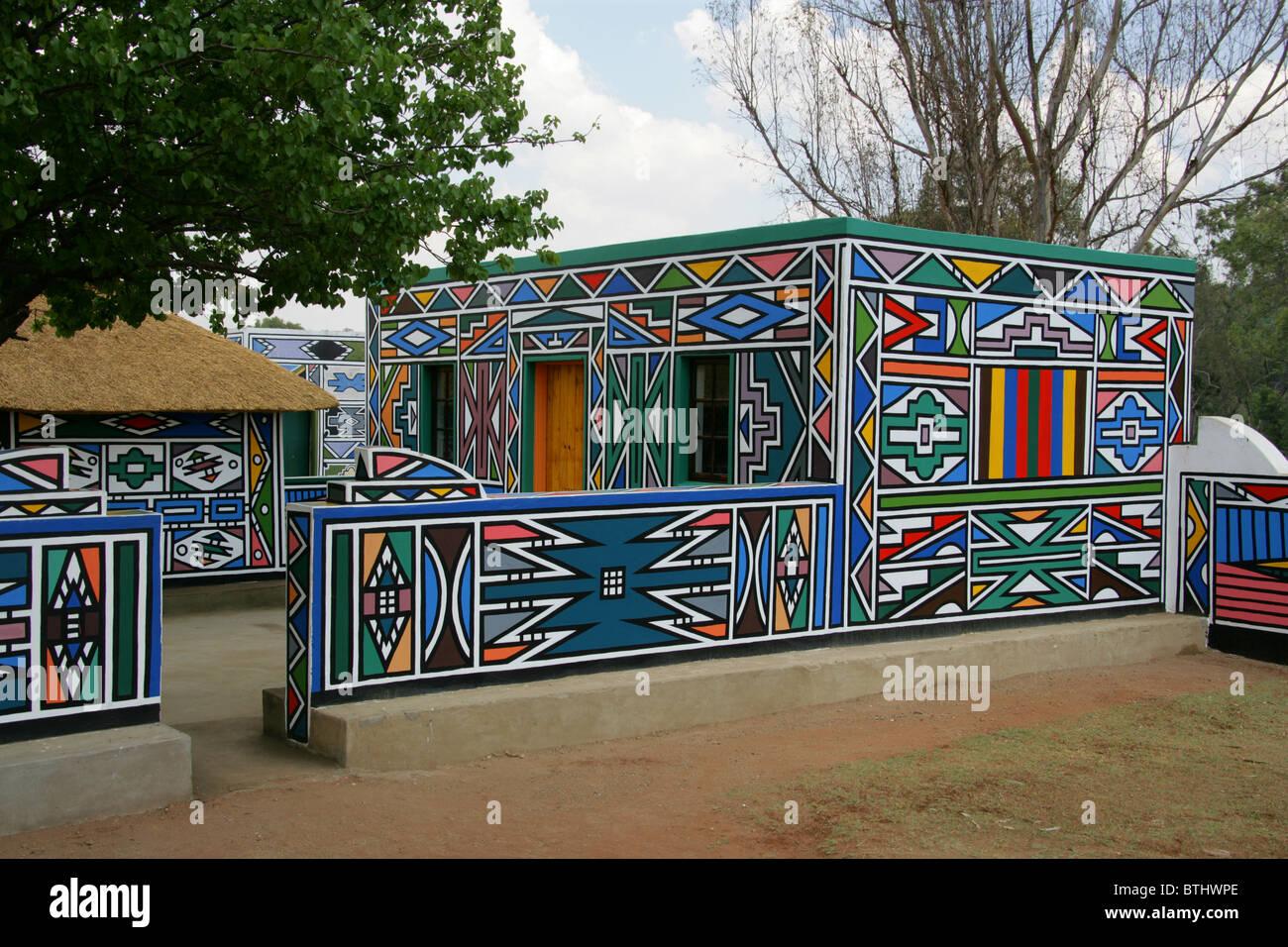 Ndebele Cultural Village, Botshabelo, South Africa Stock ...