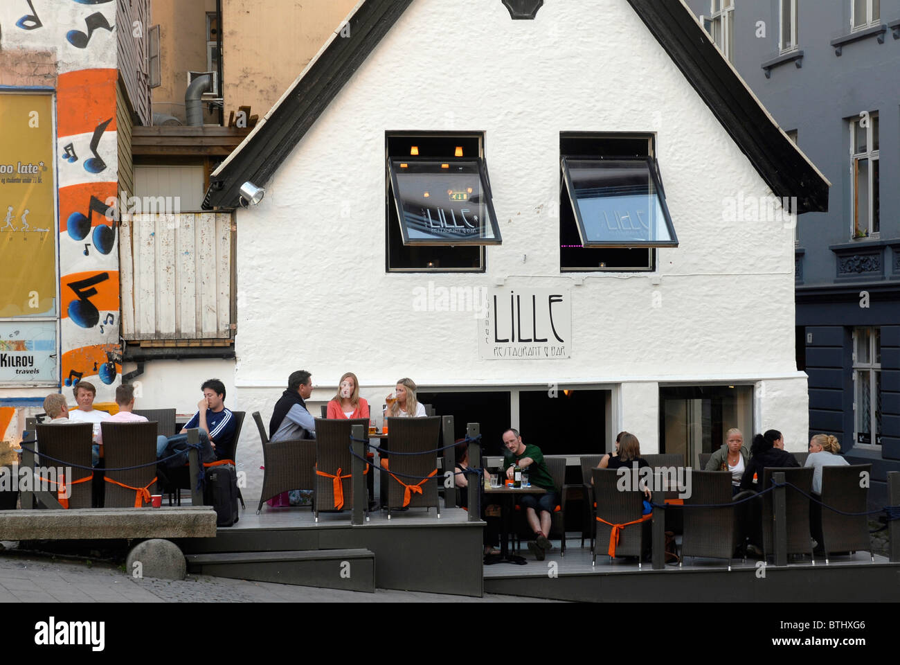 Horizontal Terrace Of The Lounge Bar Stock Photos