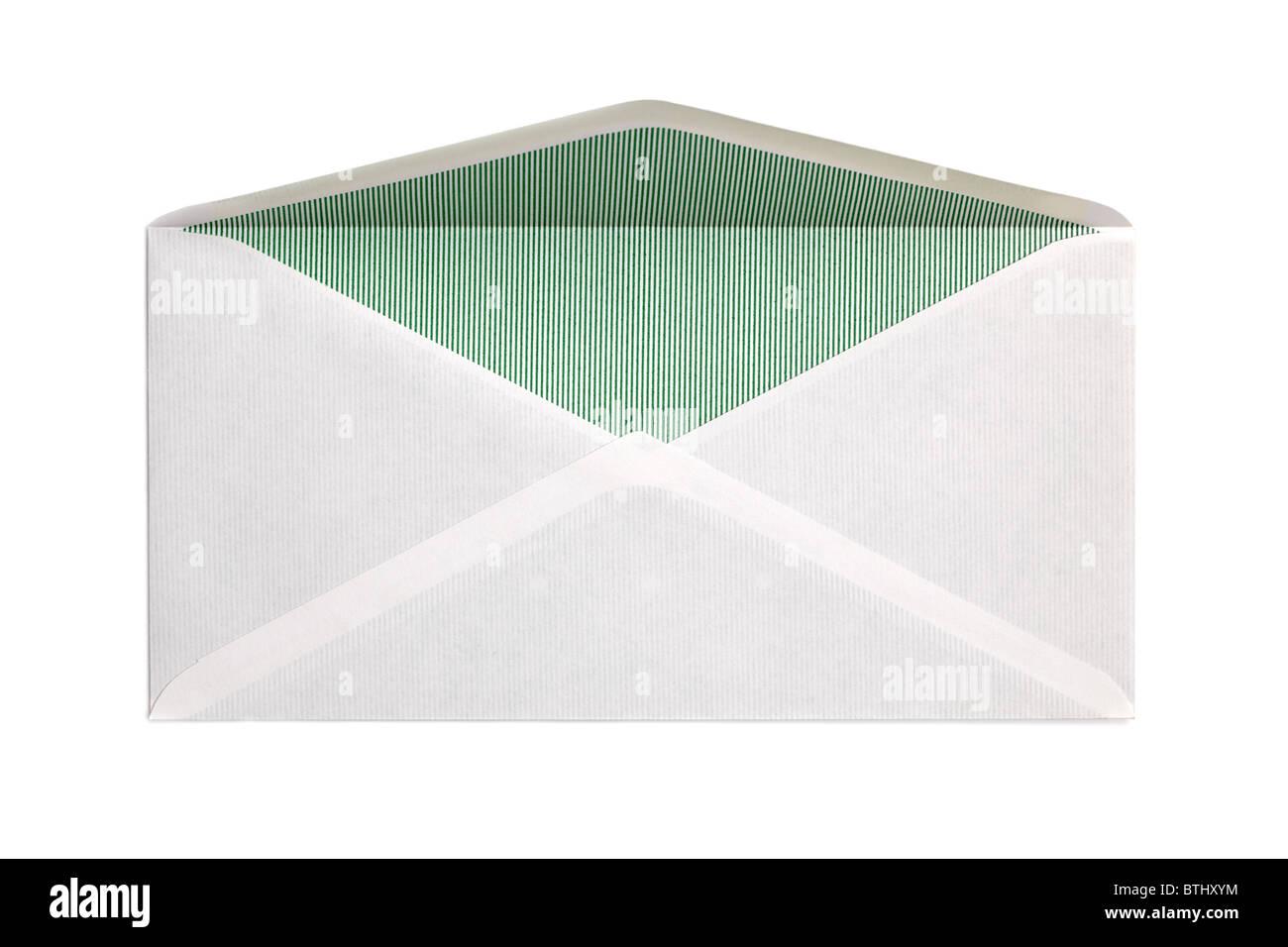 Blank open envelope - Stock Image