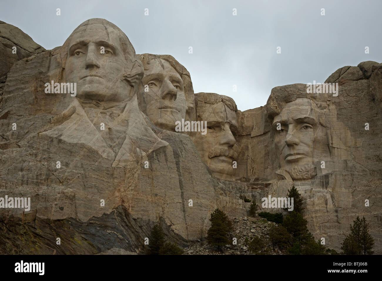Mount Rushmore National Memorial - South Dakota - Commemorating American Presidents Stock Photo