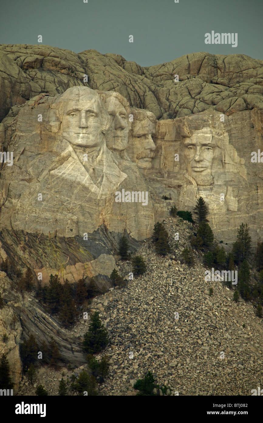 Mount Rushmore National Memorial - South Dakota - Commemorating American Presidents - Stock Image
