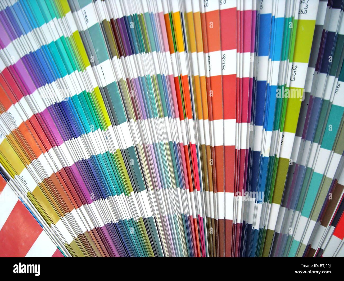 Paper color sampler guide spectrum. Graphic design. - Stock Image