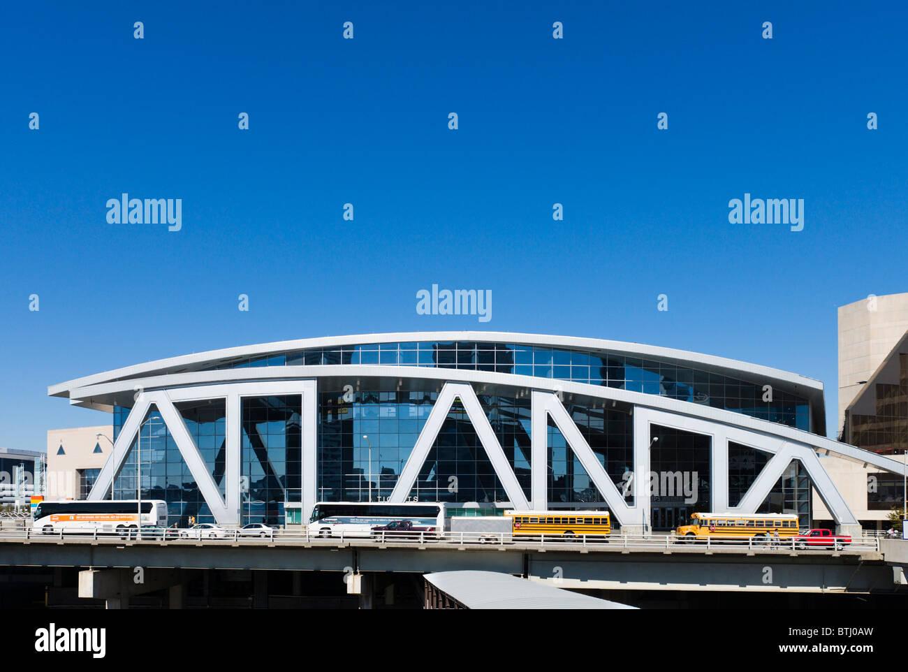 The Philips Arena, Downtown Atlanta, Georgia, USA - Stock Image