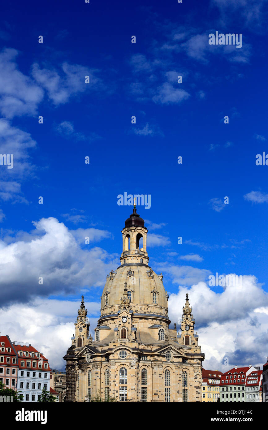 Dresdner Frauenkirche, Dresden, Saxony, Germany Stock Photo