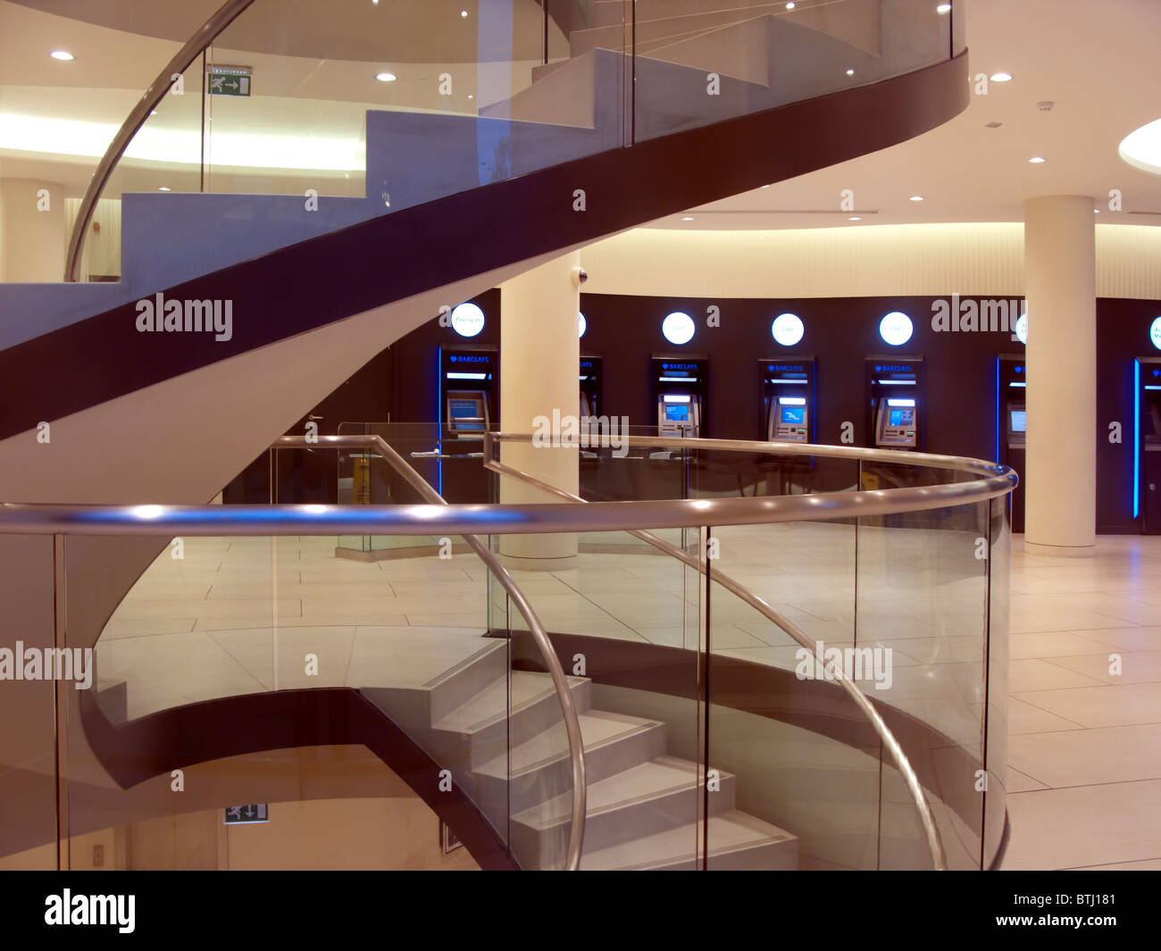 Modern bank interior stock photo  alamy