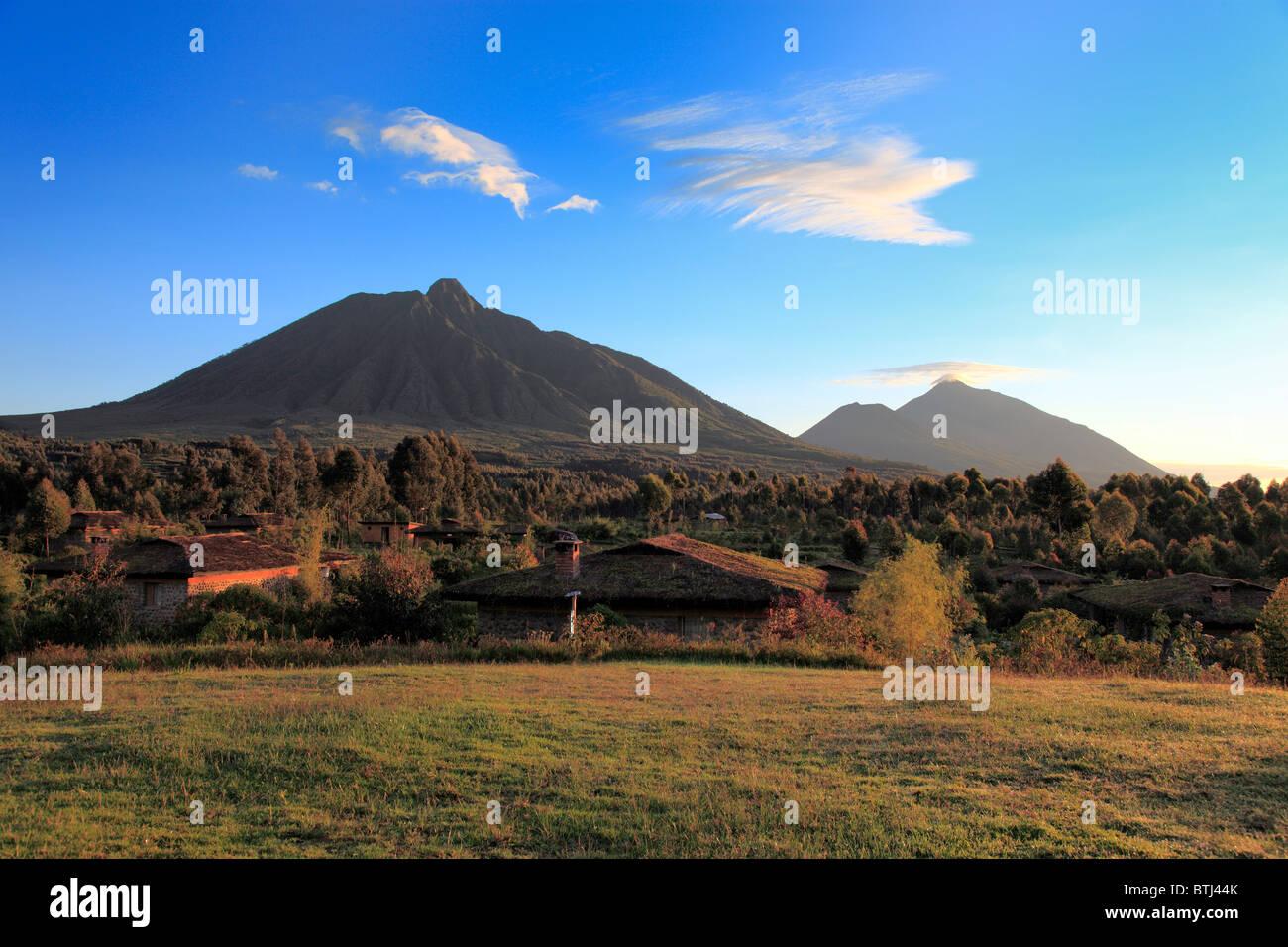 Virunga Mountains, Volcano, Rwanda - Stock Image