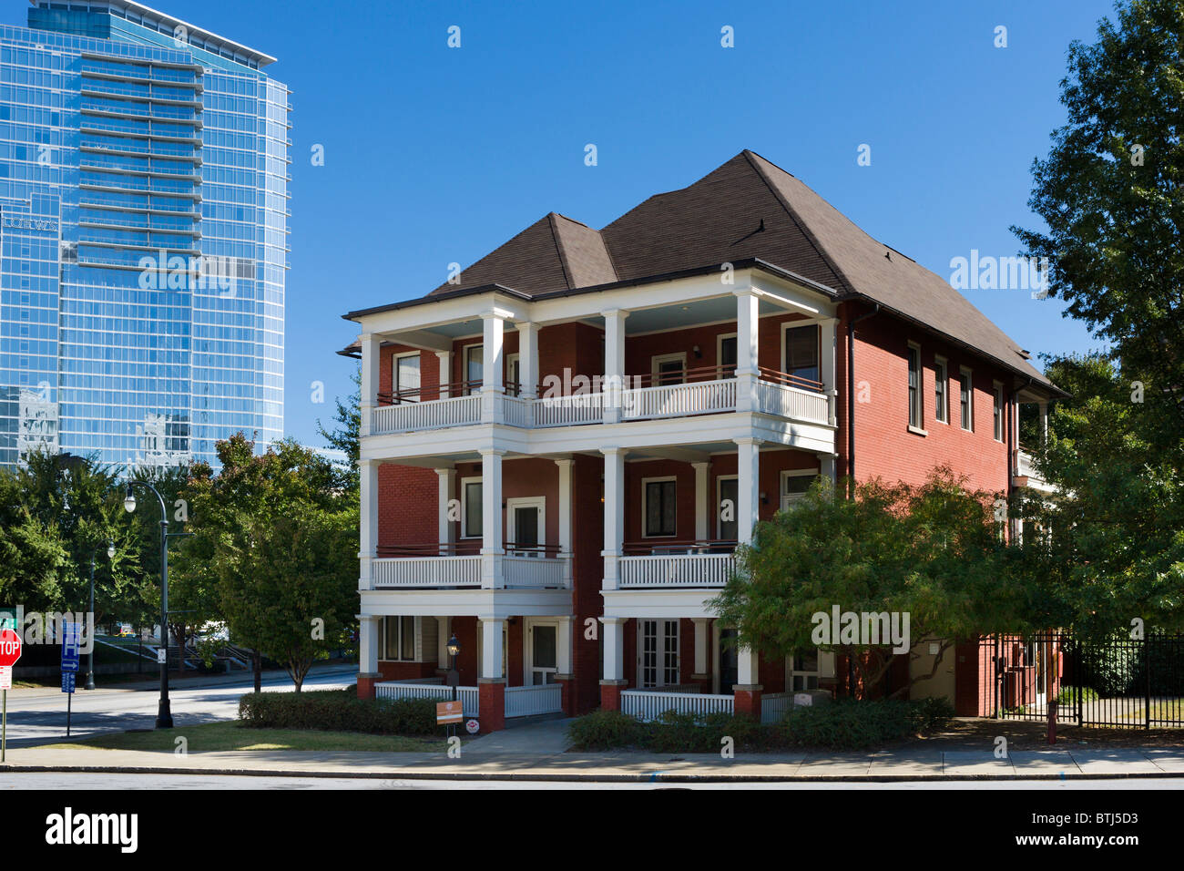 House of Margaret Mitchell (author of 'Gone with the Wind'), 10th Street, Midtown Atlanta, Georgia, USA - Stock Image