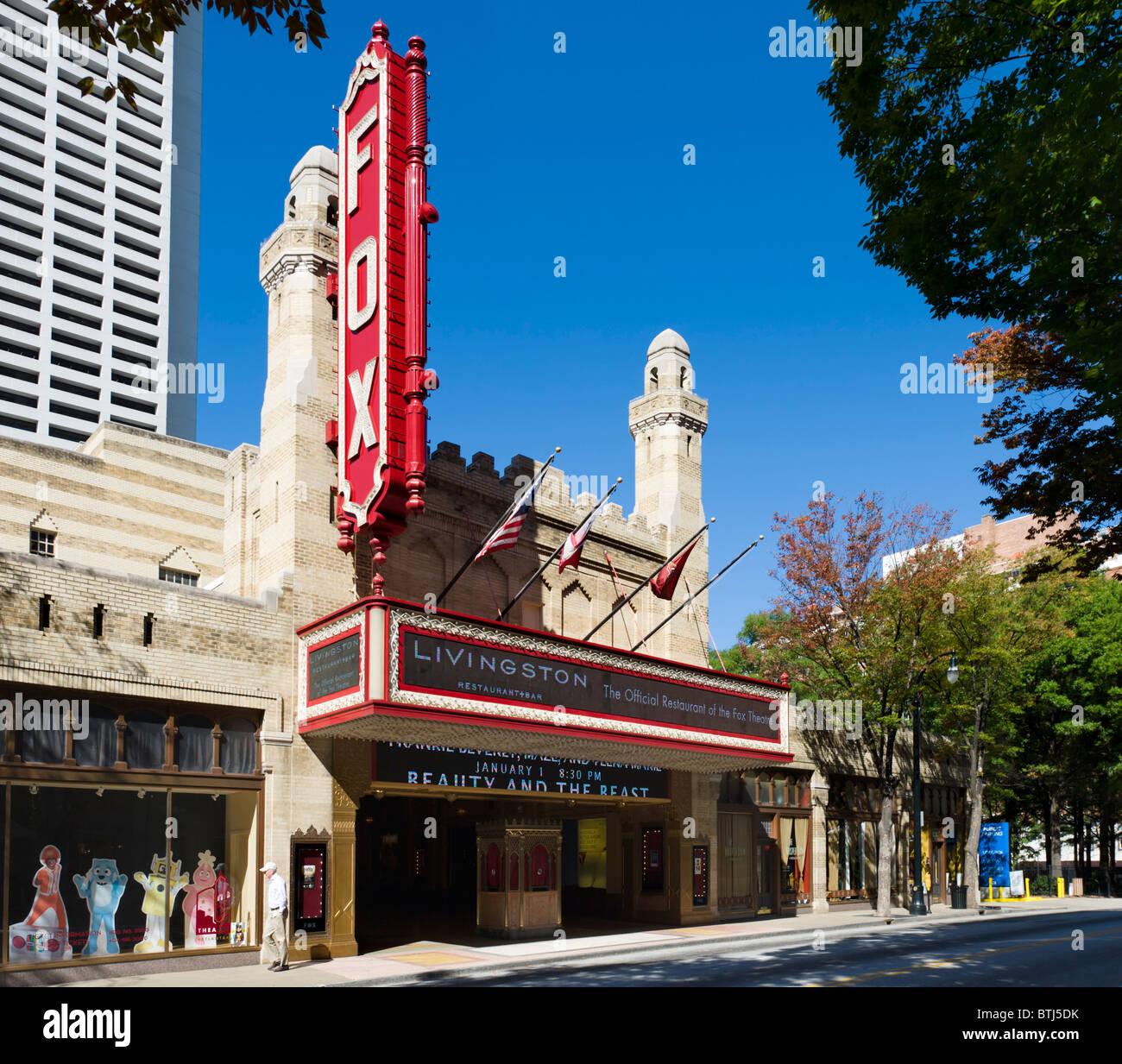 Tha Art Deco Fox Theater on Peachtree Street, Midtown Atlanta, Georgia, USA - Stock Image