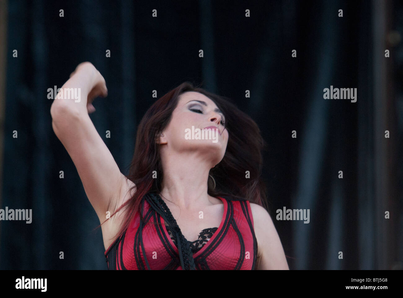 Within Temptation Assen Holland - Stock Image