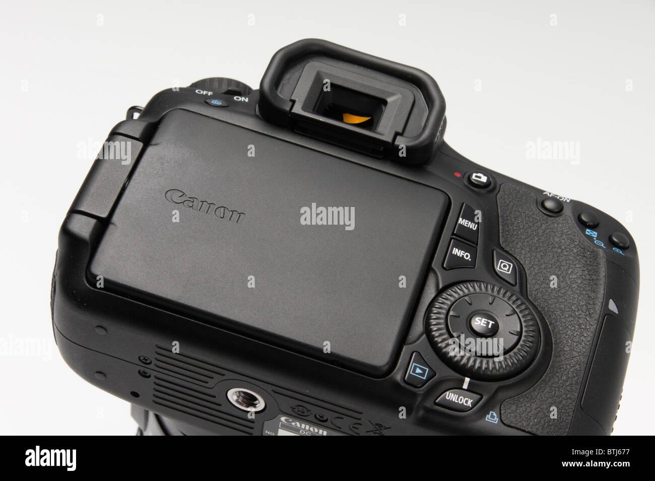 Canon 60D digital single lens reflex camera late 2010 launch - rear