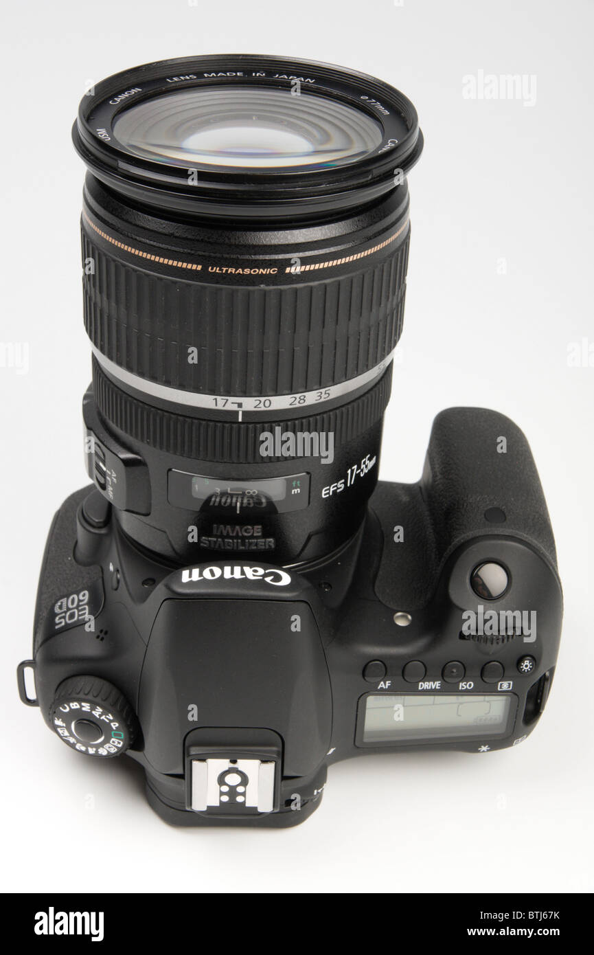 Canon 60D digital single lens reflex camera late 2010 launch with zoom lens Stock Photo