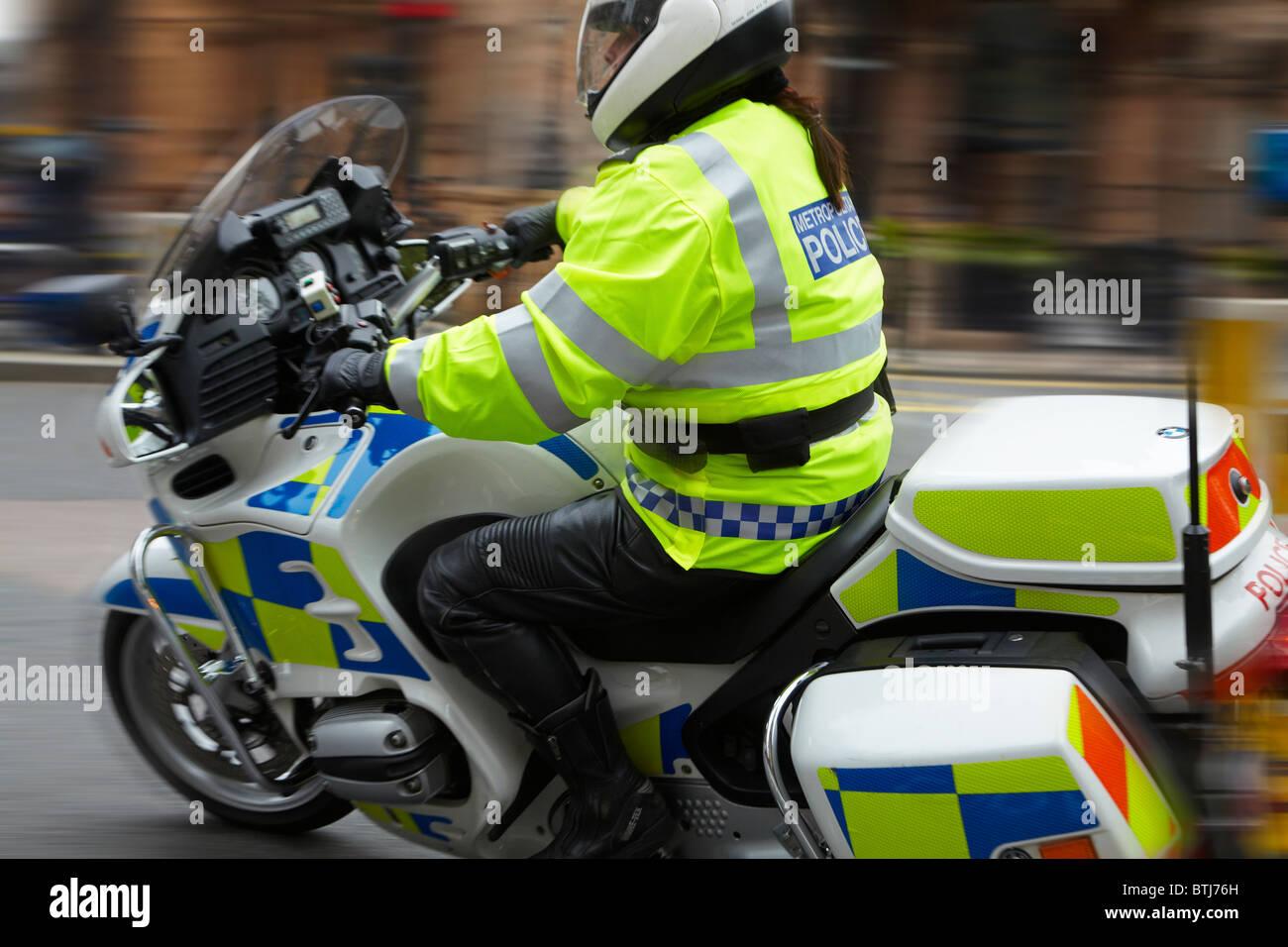Police Motorbike, London, England, United Kingdom - Stock Image