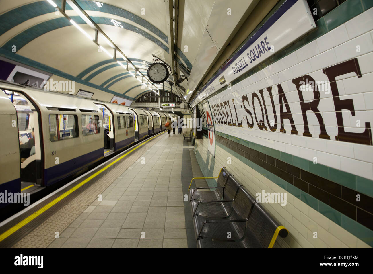 Russell Square Tube Station, London, England, United Kingdom - Stock Image