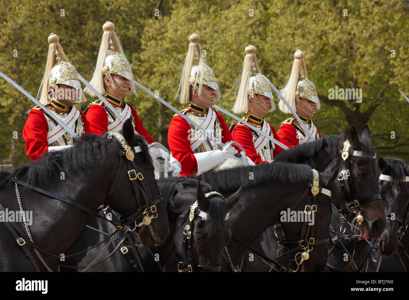 British Household Cavalry (Life Guards Regiment), Changing of the Horse Guards, Horse Guards, London, England, United - Stock Image
