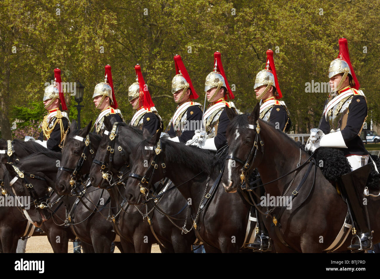 British Household Cavalry, Changing of the Horse Guards, Horse Guards, London, England, United Kingdom - Stock Image