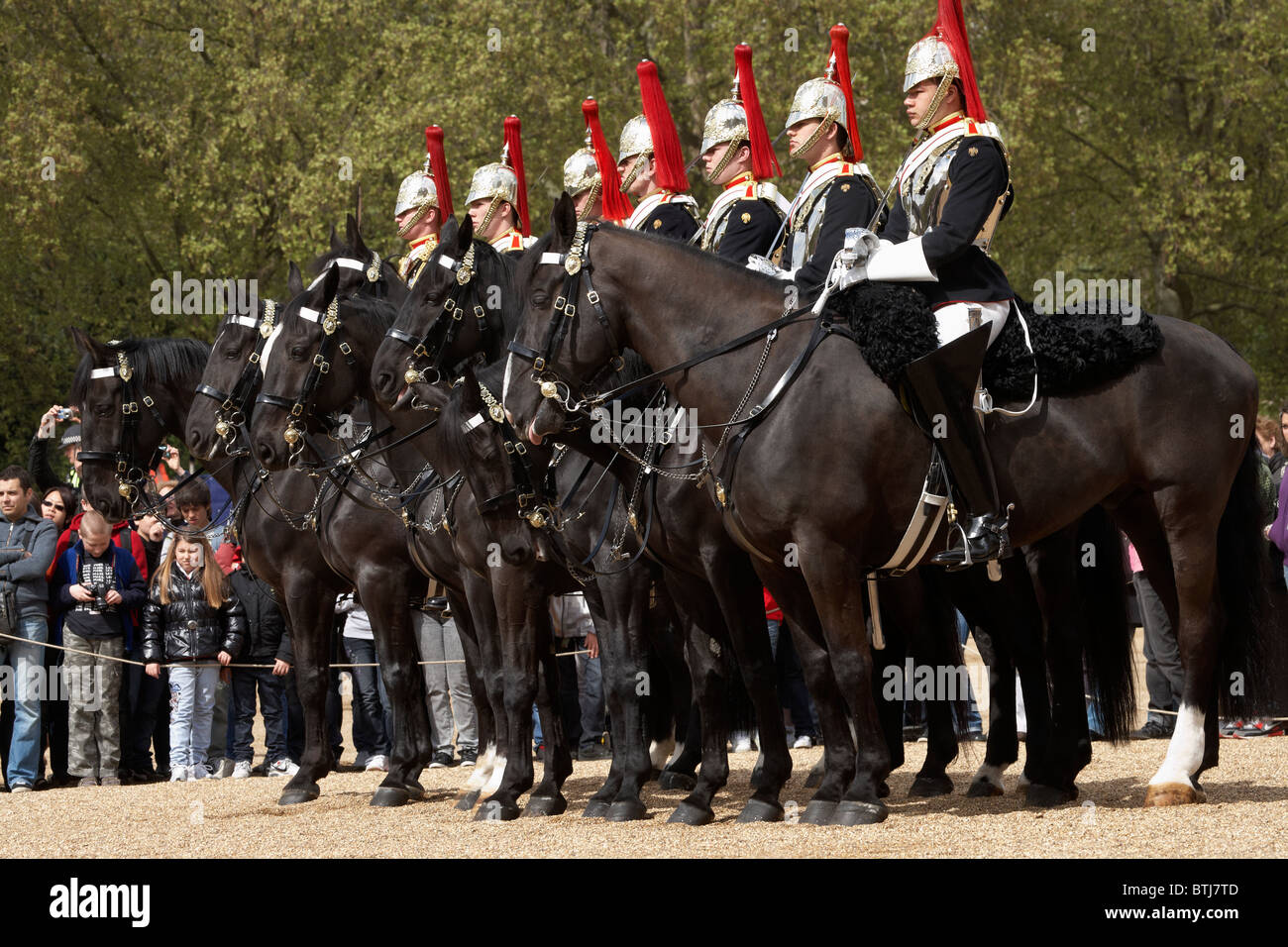 British Household Cavalry, Changing of the Horse Guards, Horse Guards, London, England, United Kingdom Stock Photo