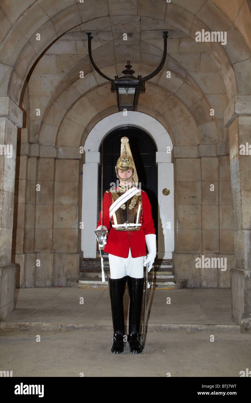 British Household Cavalry (Life Guards Regiment), Horse Guards, London, England, United Kingdom - Stock Image