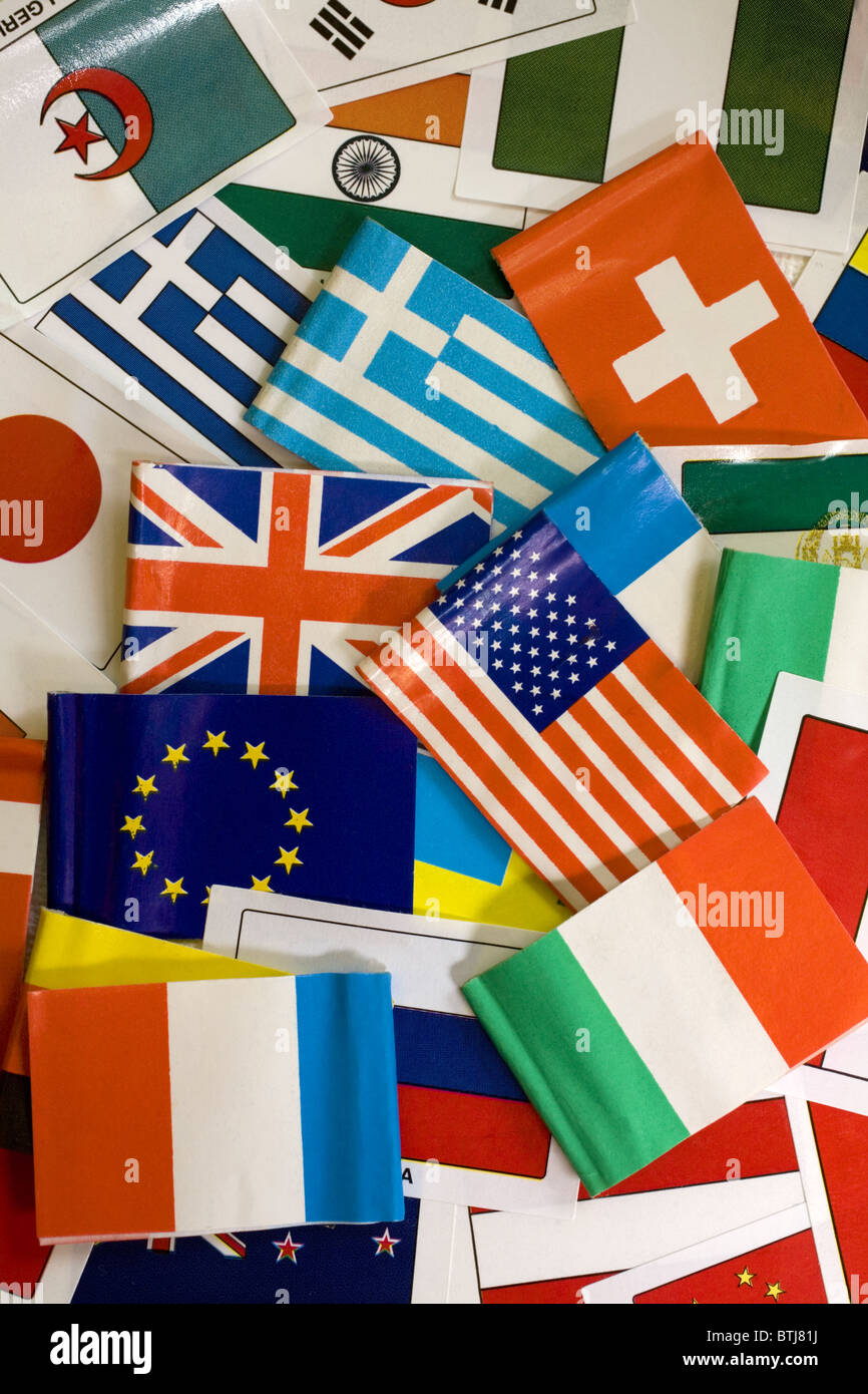 Various national flags - Stock Image