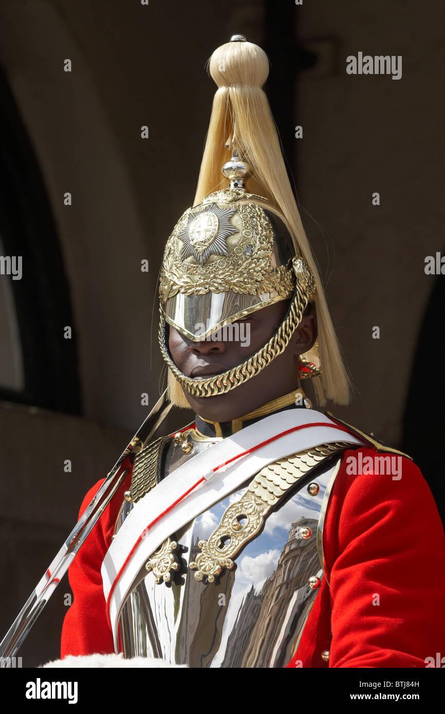 British Household Cavalry (Life Guards Regiment), Horse Guards, Whitehall, London, England, United Kingdom Stock Photo
