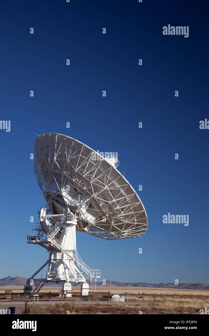 The Very Large Array radio telescope, part of the National Radio Astronomy Observatory Stock Photo