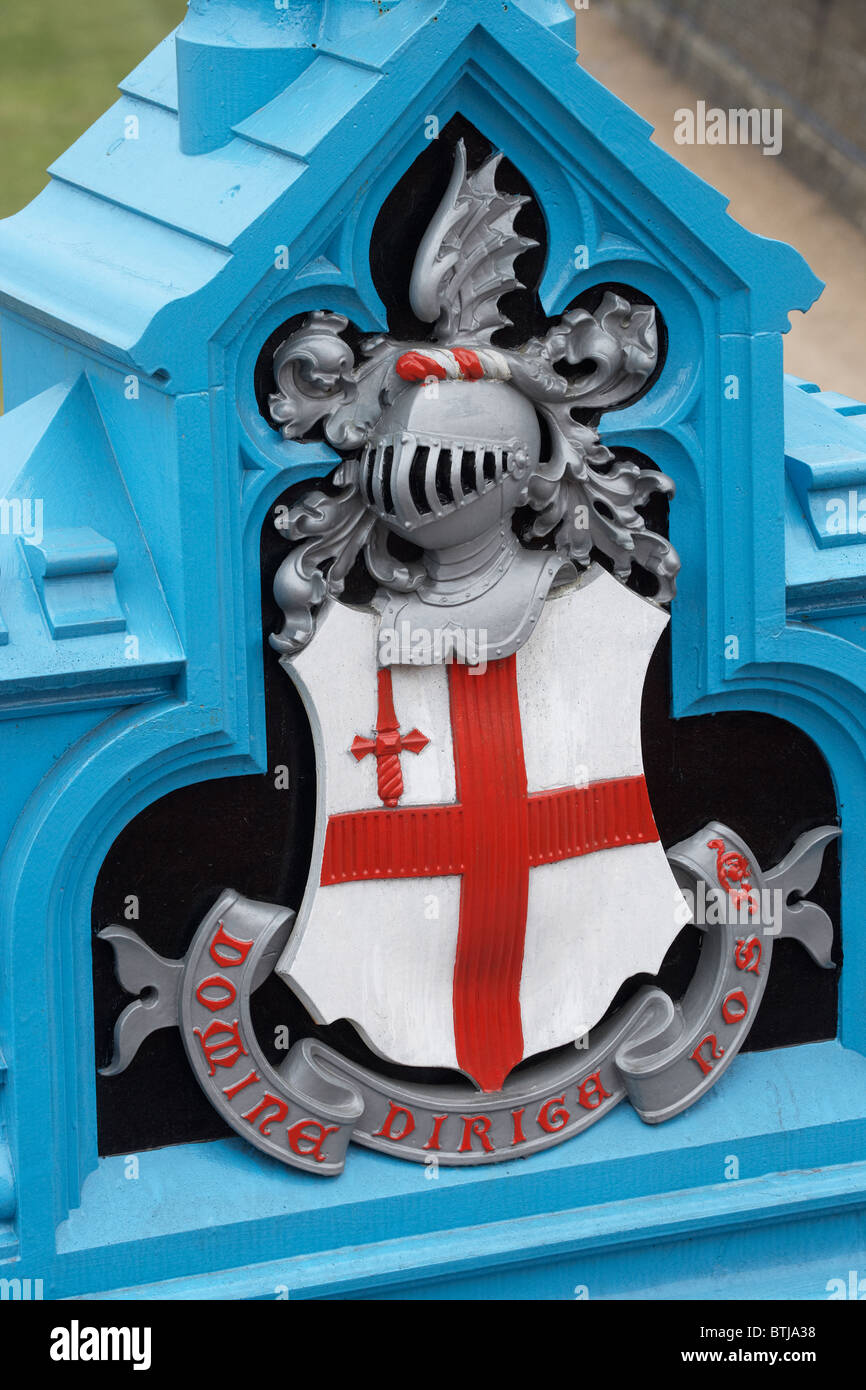 Coat of Arms of The City of London on Tower Bridge, London, England, United Kingdom - Stock Image