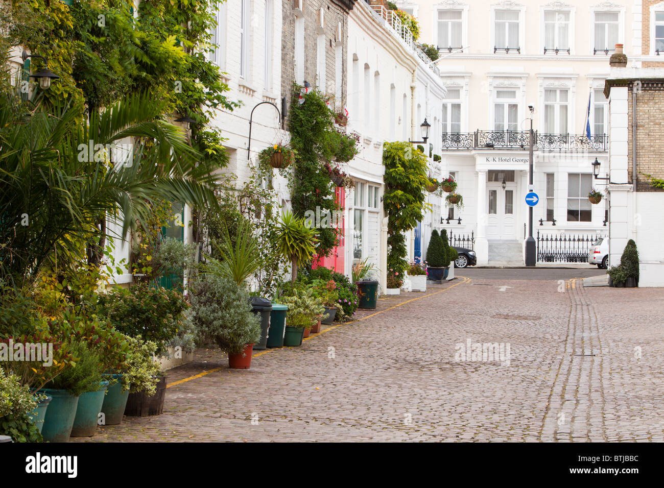 Spear Mews in the Borough of Kensington and chelsea at Earls court, London, UK. - Stock Image